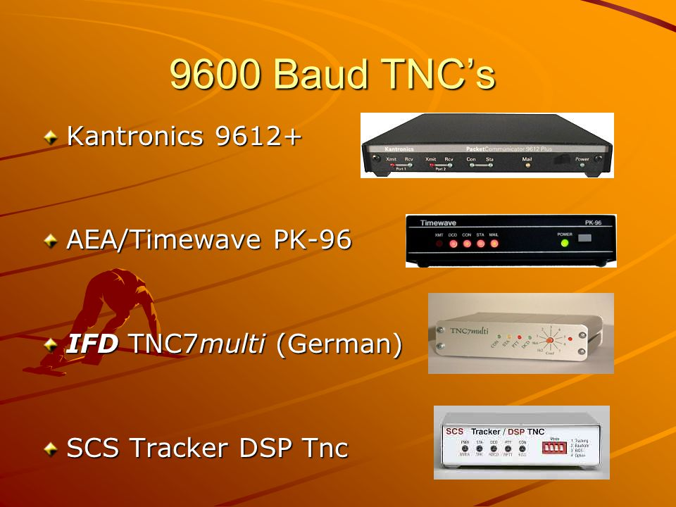 9600 Baud TNC's Kantronics 9612+ AEA/Timewave PK-96