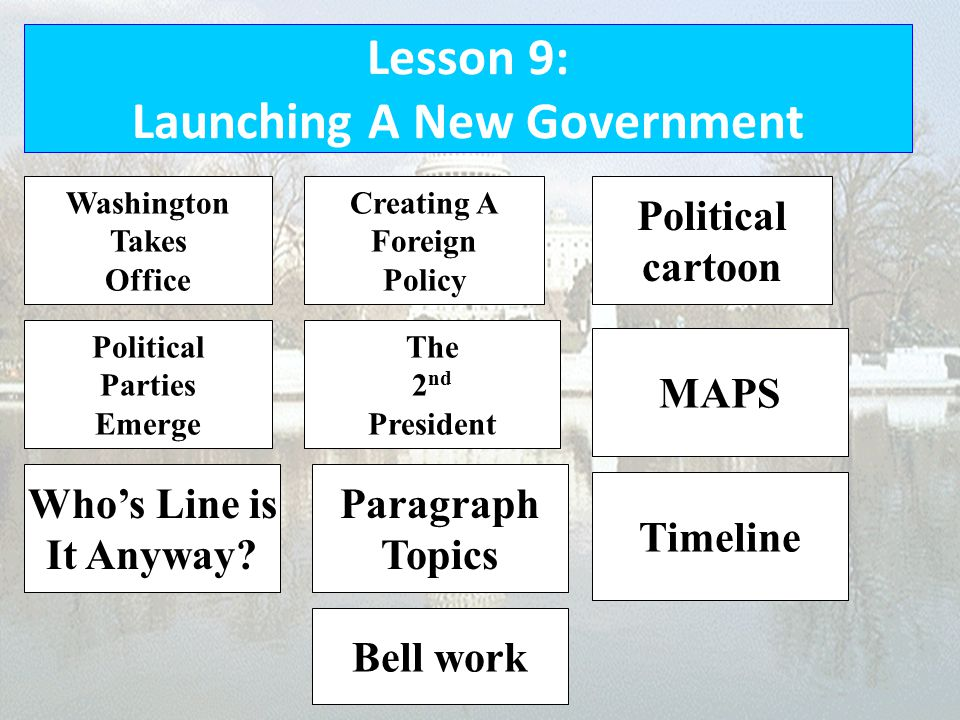 Lesson 9: Launching A New Government