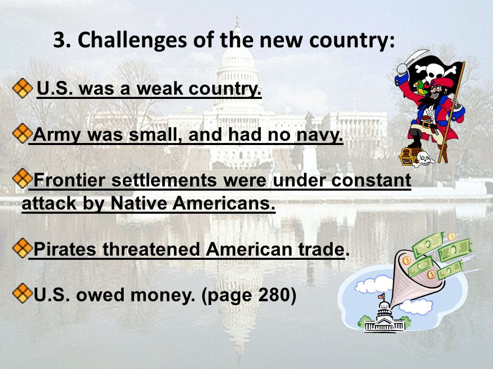 3. Challenges of the new country: