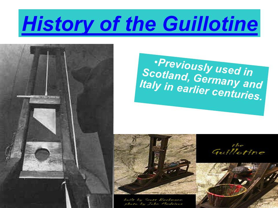 History of the Guillotine