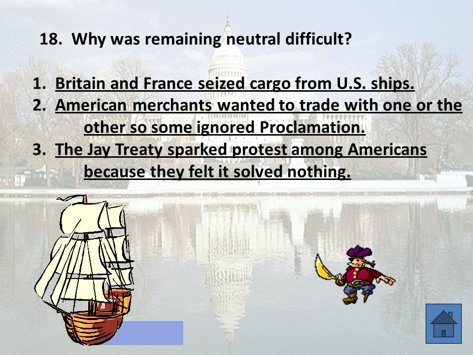 18. Why was remaining neutral difficult. 1