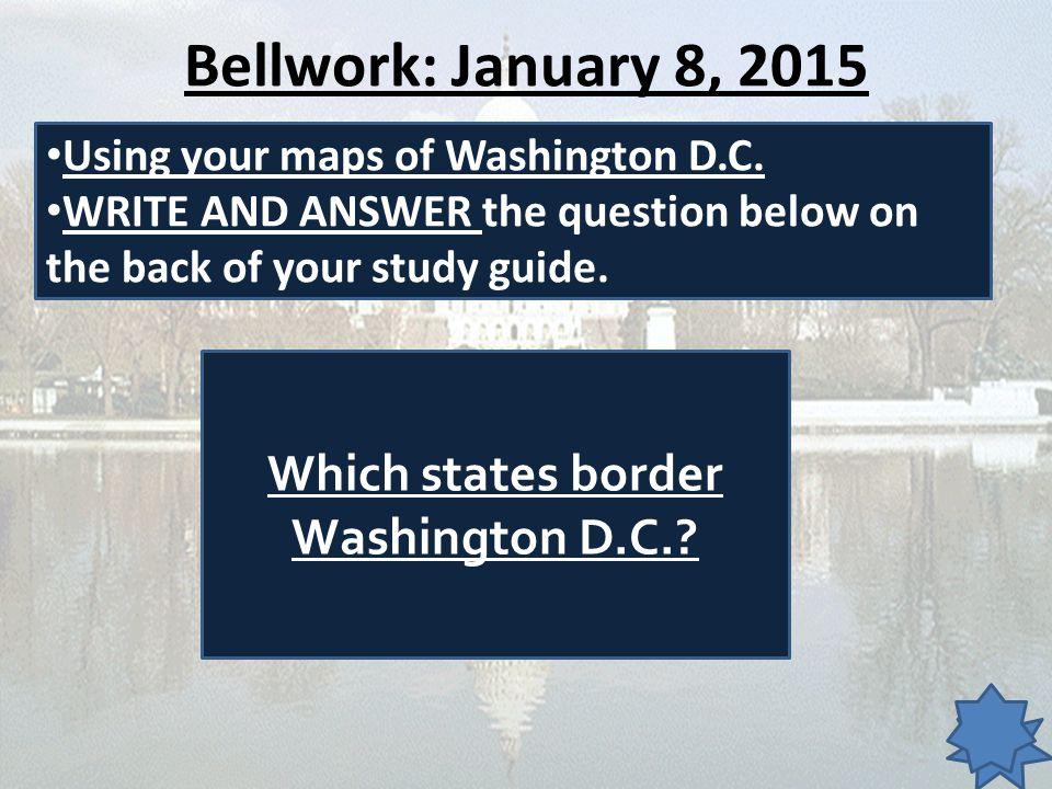 Which states border Washington D.C.