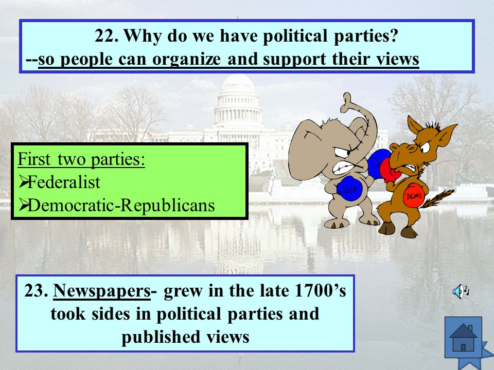 22. Why do we have political parties