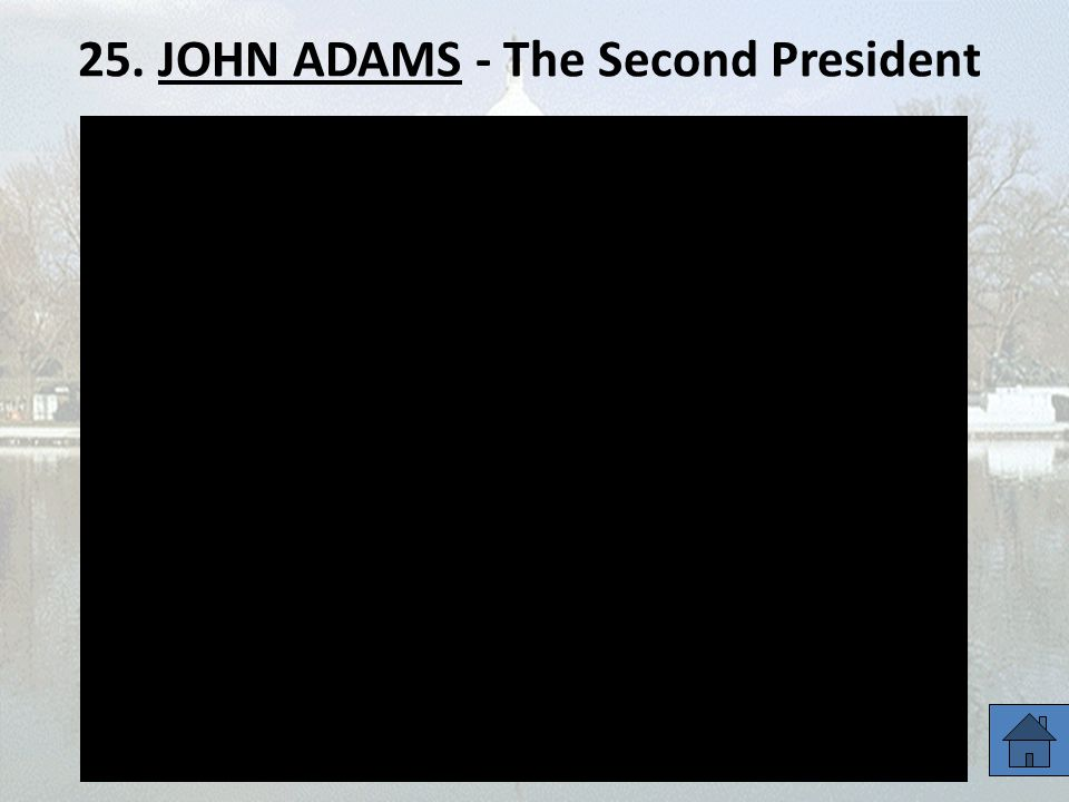 25. JOHN ADAMS - The Second President