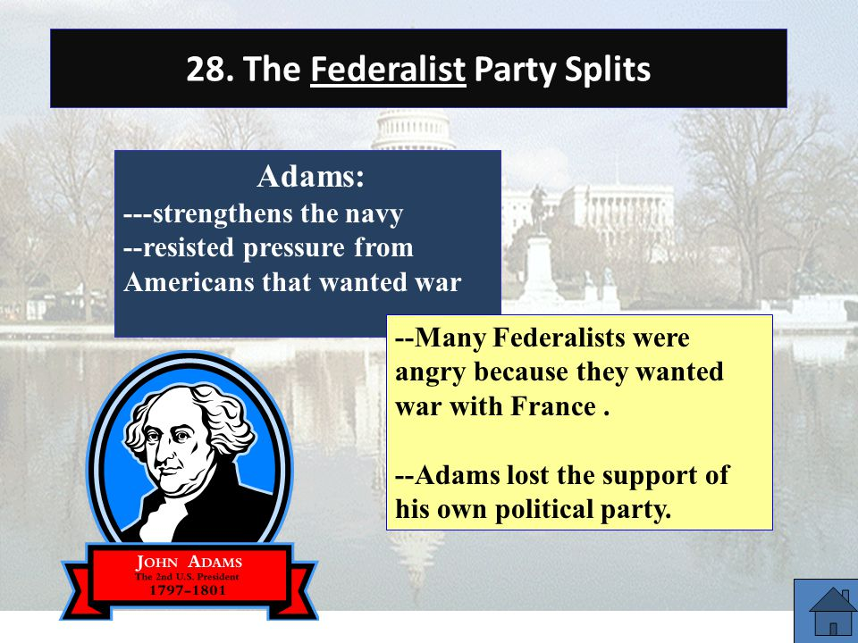 28. The Federalist Party Splits