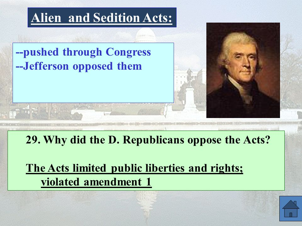 Alien and Sedition Acts: