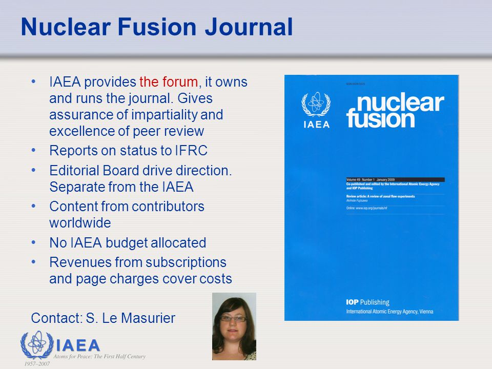 Nuclear Fusion Journal