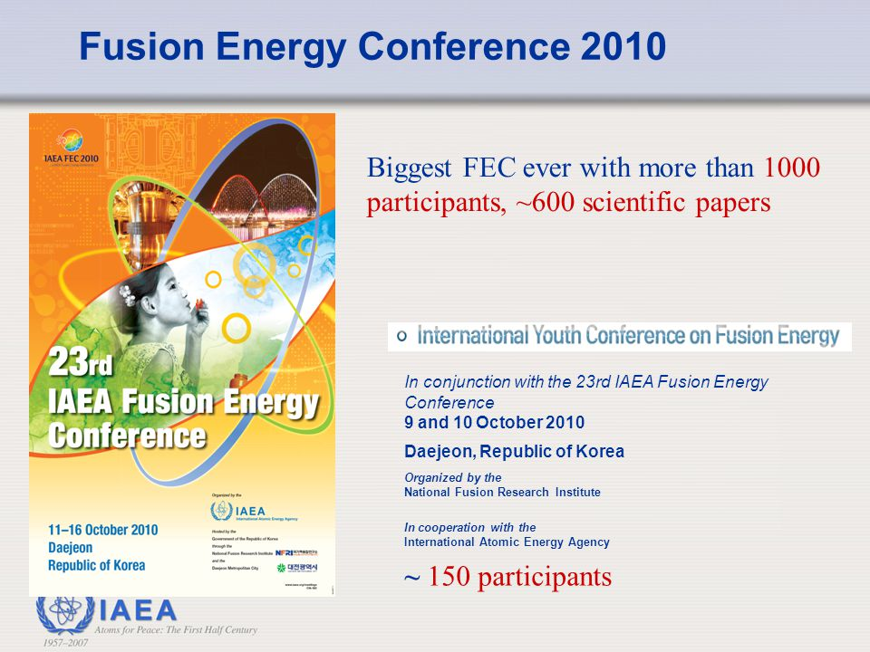 Fusion Energy Conference 2010