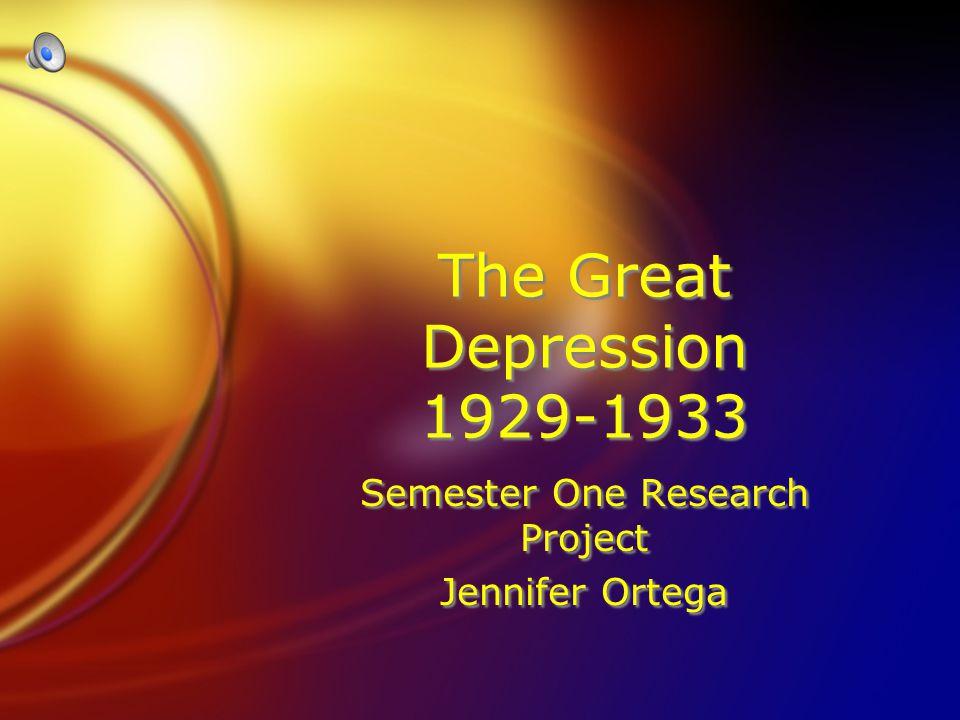 Semester One Research Project Jennifer Ortega