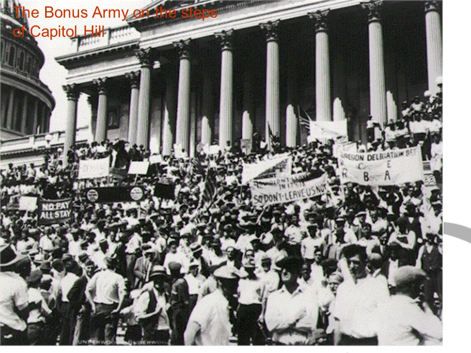 The Bonus Army on the steps of Capitol Hill