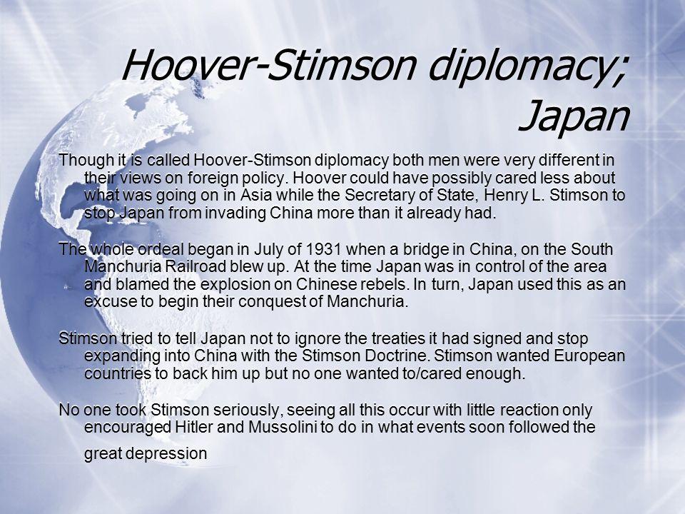 Hoover-Stimson diplomacy; Japan