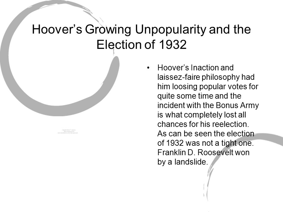 Hoover's Growing Unpopularity and the Election of 1932