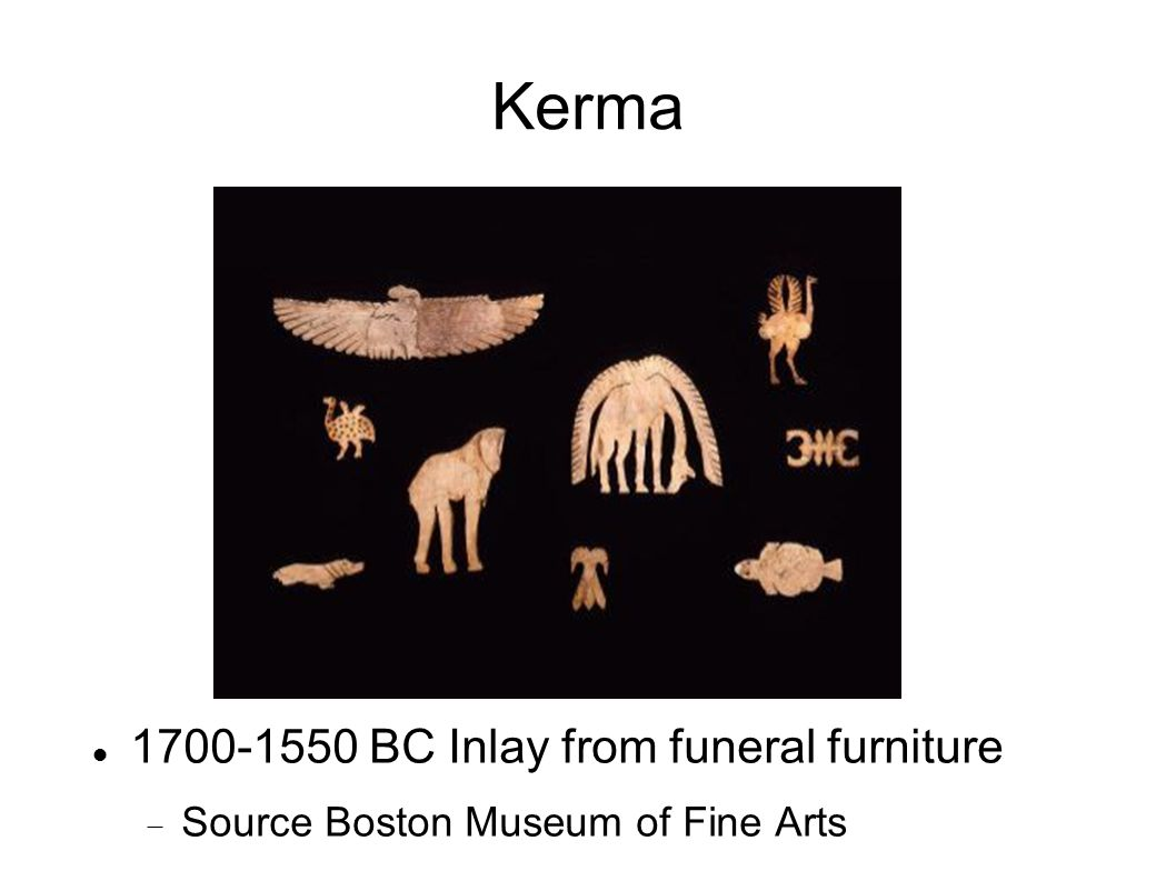 Kerma 1700-1550 BC Inlay from funeral furniture