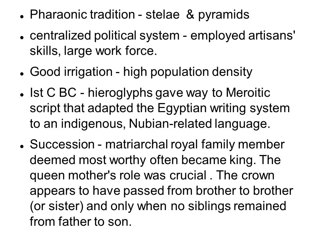 Pharaonic tradition - stelae & pyramids
