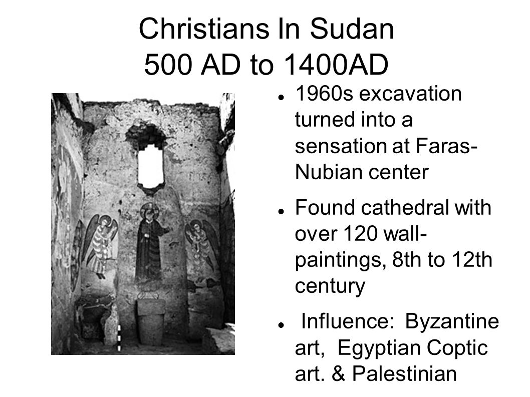 Christians In Sudan 500 AD to 1400AD