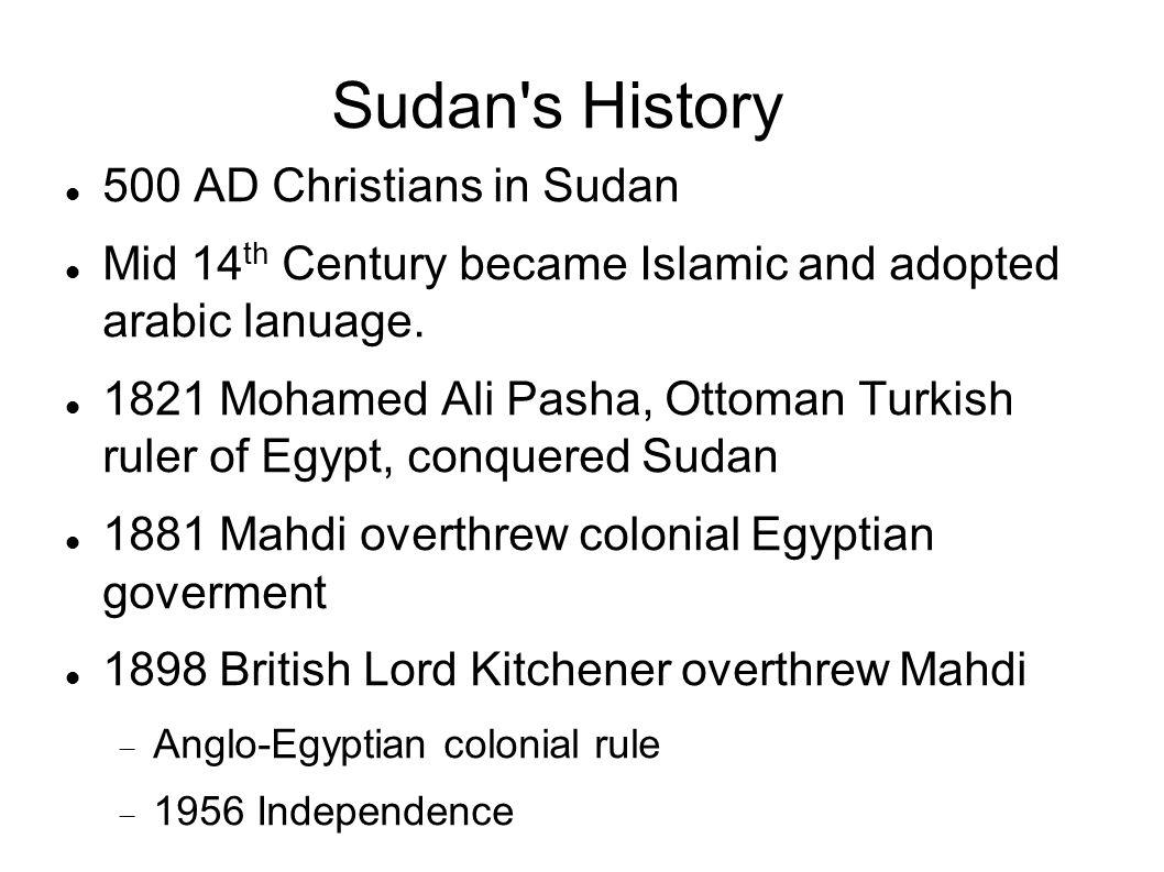 Sudan s History 500 AD Christians in Sudan