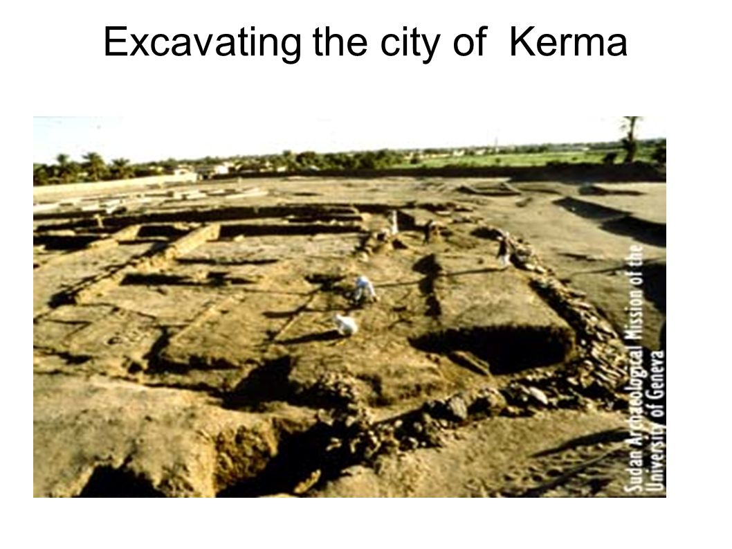Excavating the city of Kerma