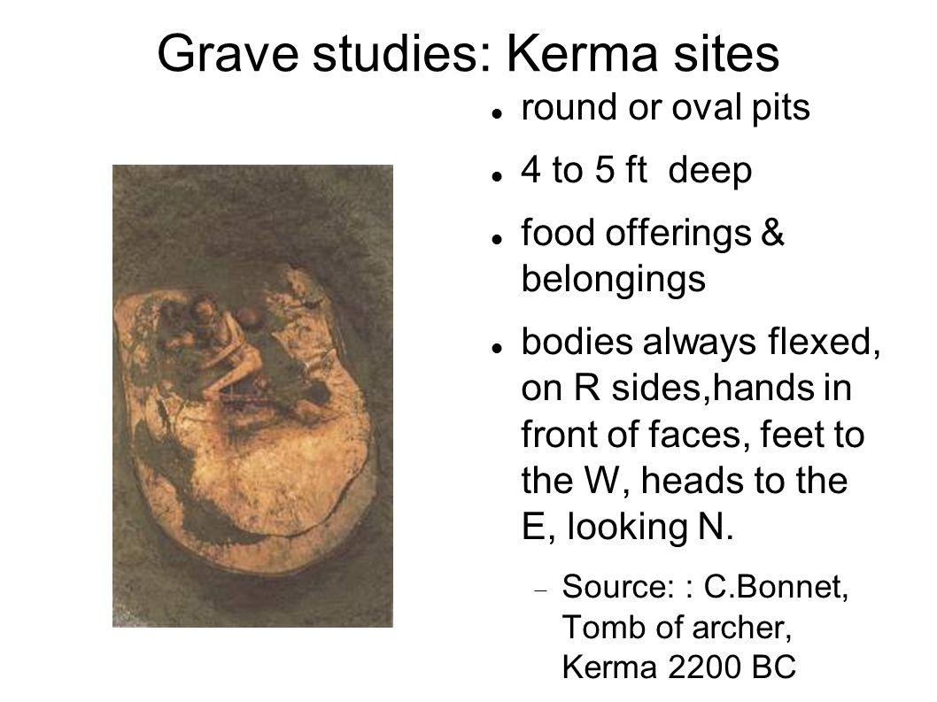 Grave studies: Kerma sites