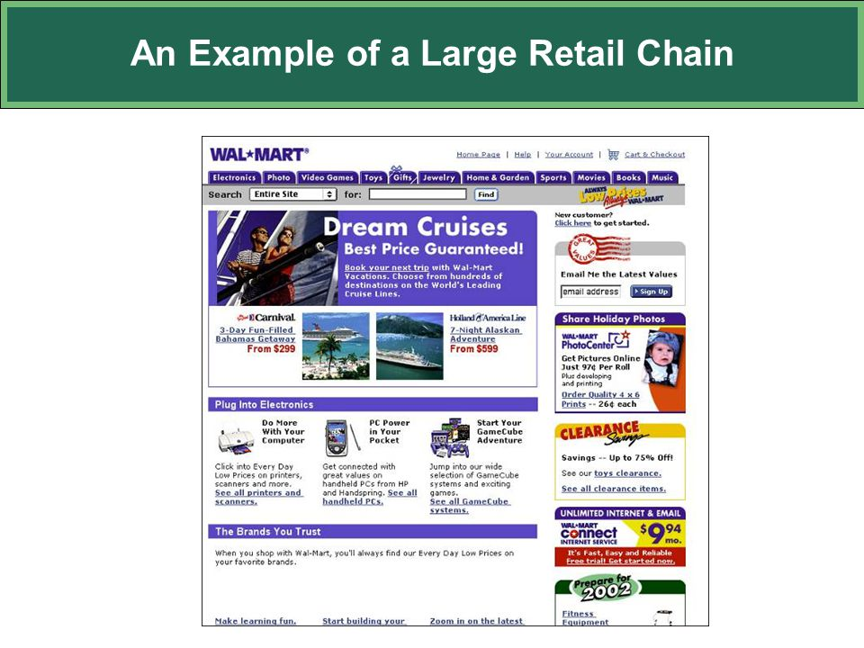 An Example of a Large Retail Chain