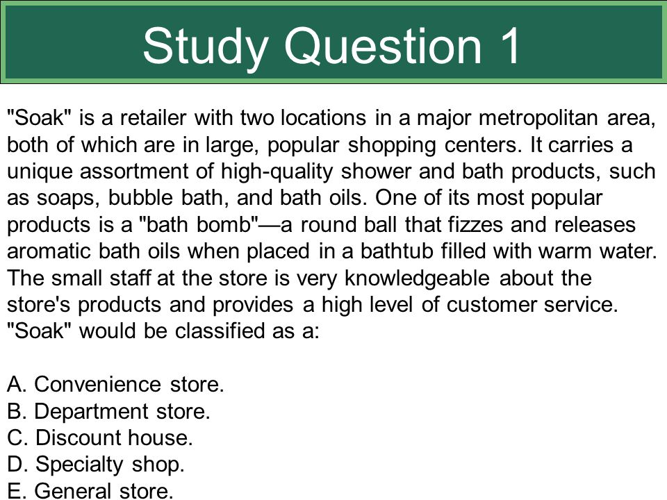 Study Question 1 This slide relates to material on pp. 359-363.