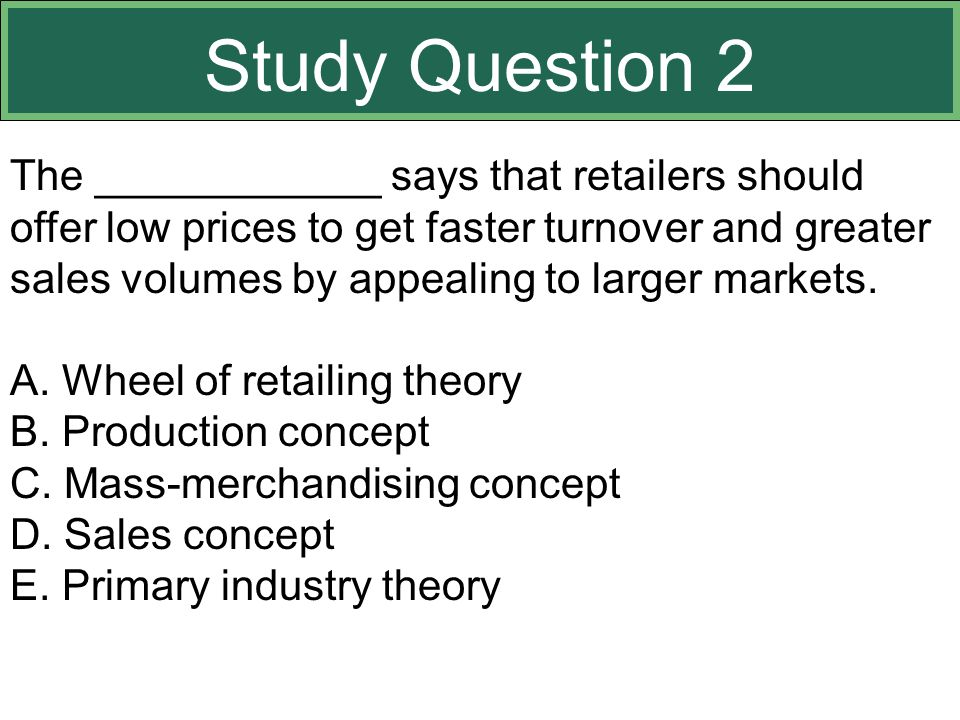 Study Question 2 This slide relates to material on pp. 359-363.