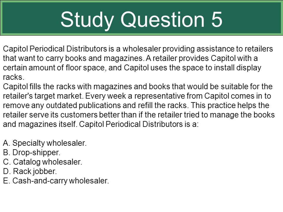 Study Question 5 This slide relates to material on pp. 359-363.