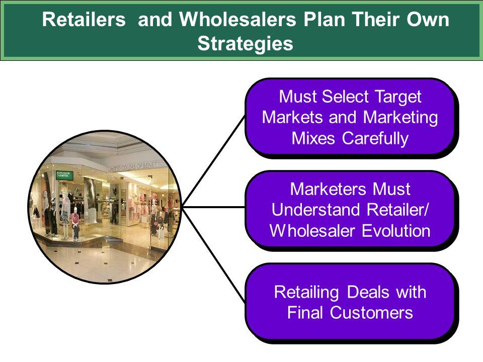 Retailers and Wholesalers Plan Their Own Strategies