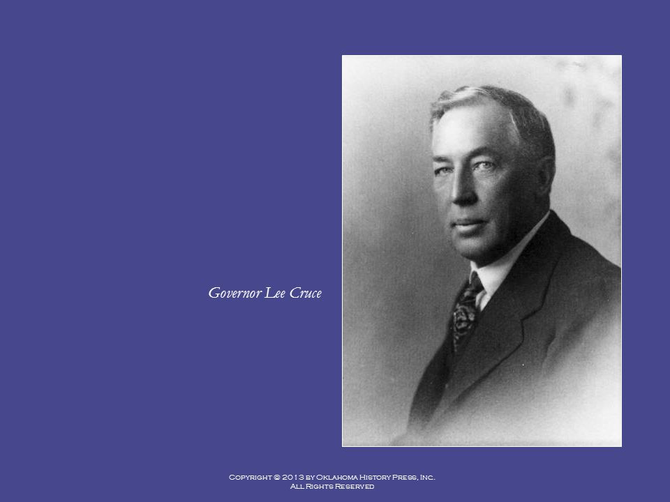 Governor Lee Cruce