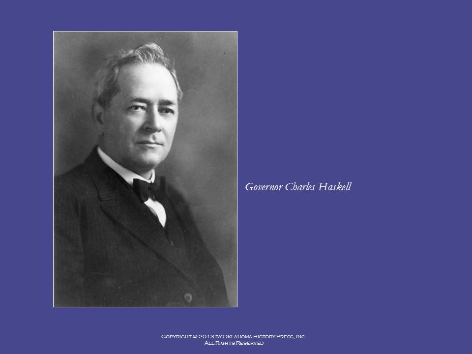 Governor Charles Haskell