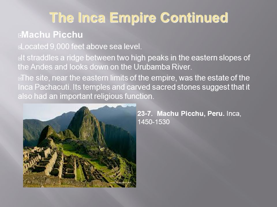 The Inca Empire Continued