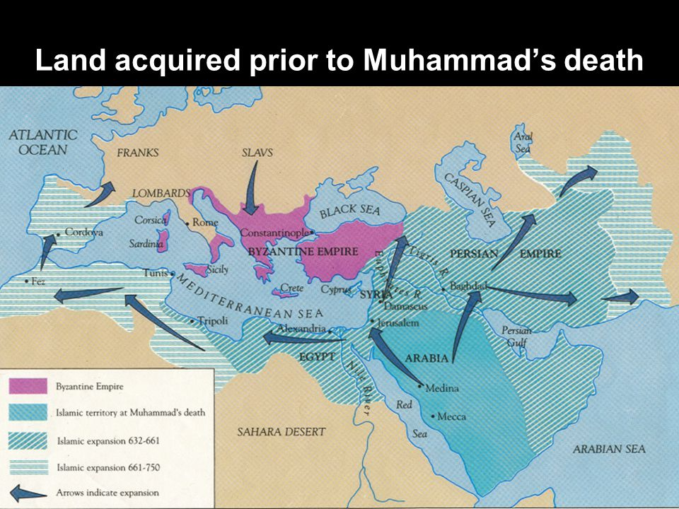 Land acquired prior to Muhammad's death