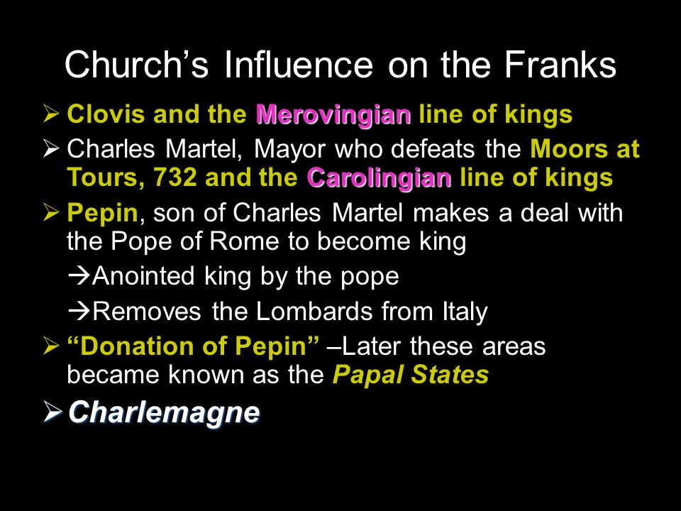 Church's Influence on the Franks