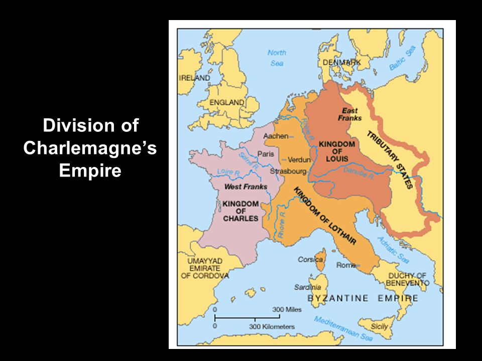 Division of Charlemagne's Empire