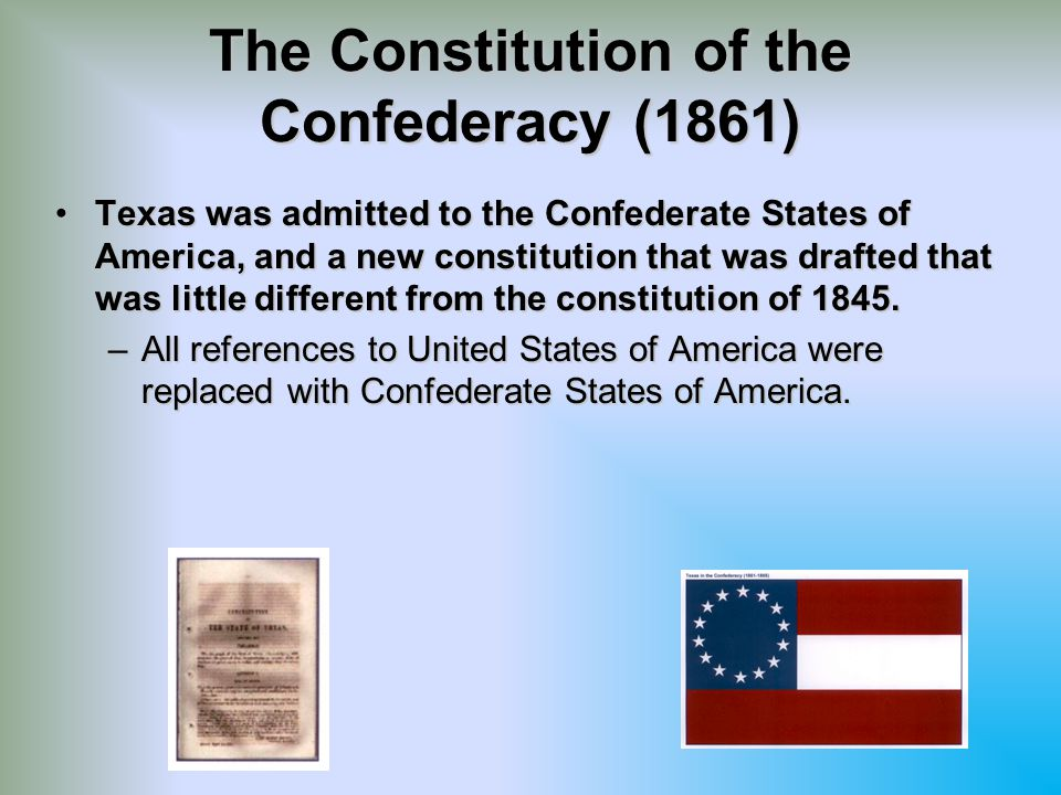 The Constitution of the Confederacy (1861)