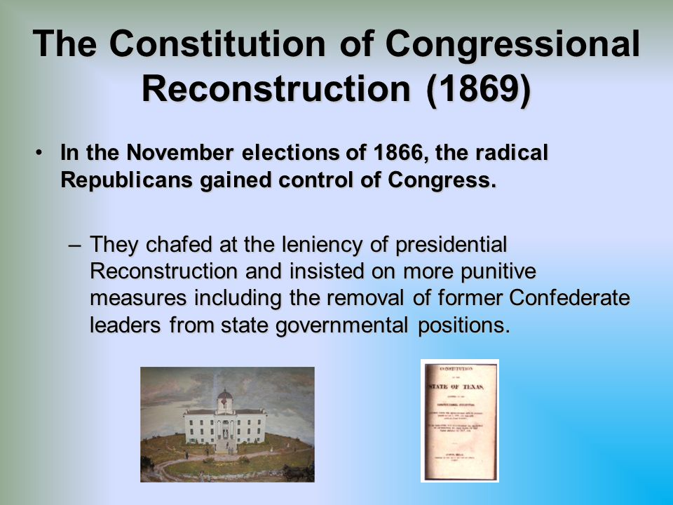The Constitution of Congressional Reconstruction (1869)