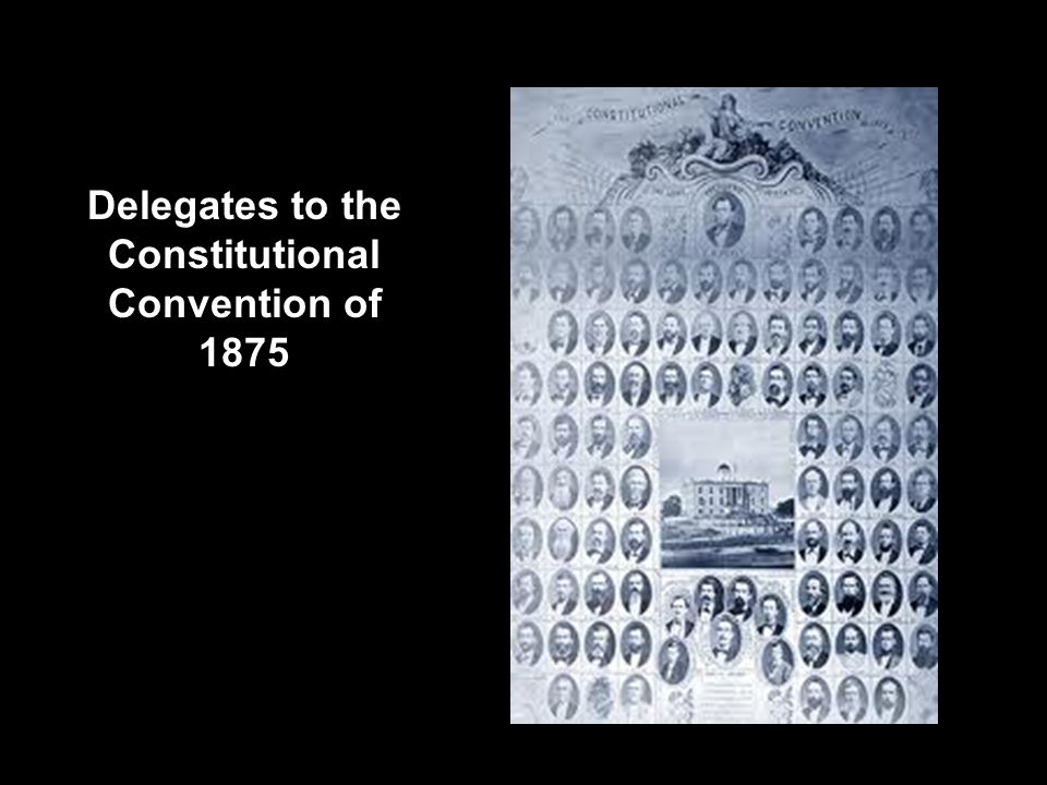 Delegates to the Constitutional Convention of 1875