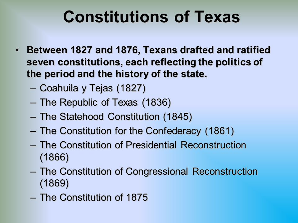 Constitutions of Texas
