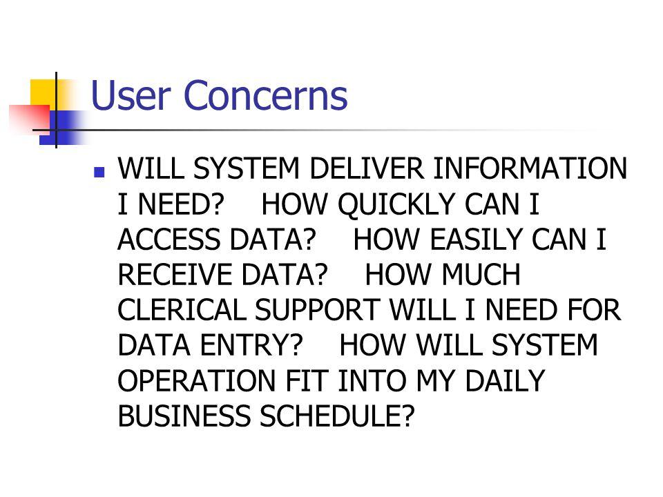 User Concerns