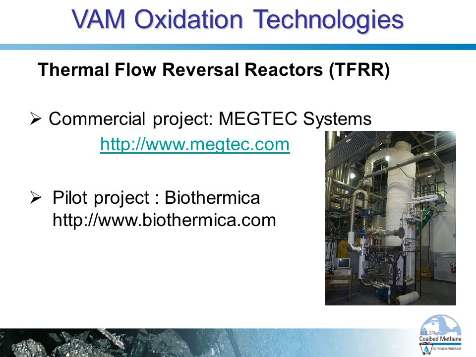 VAM Oxidation Technologies