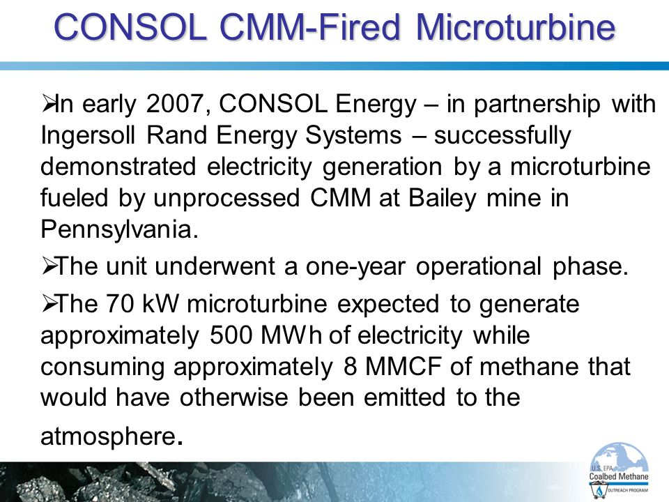CONSOL CMM-Fired Microturbine