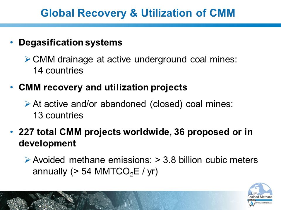 Global Recovery & Utilization of CMM