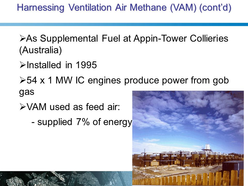 Harnessing Ventilation Air Methane (VAM) (cont'd)