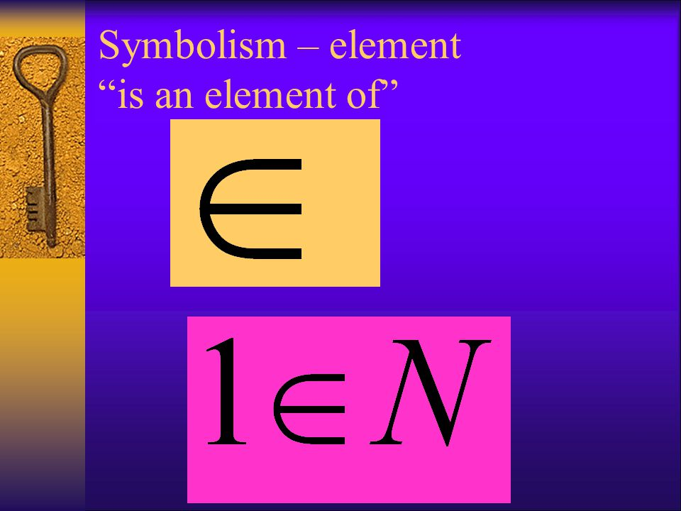 Symbolism – element is an element of