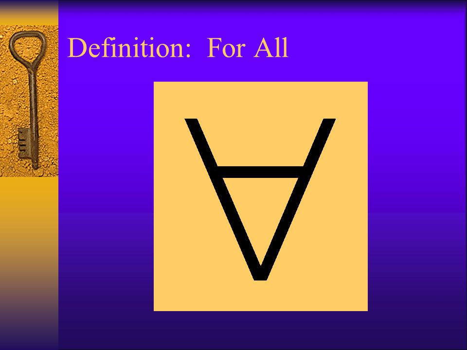Definition: For All