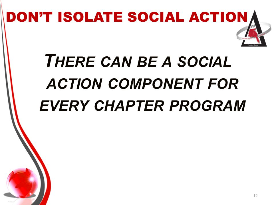 DON'T ISOLATE SOCIAL ACTION