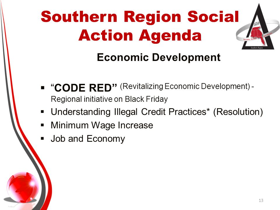 Southern Region Social Action Agenda