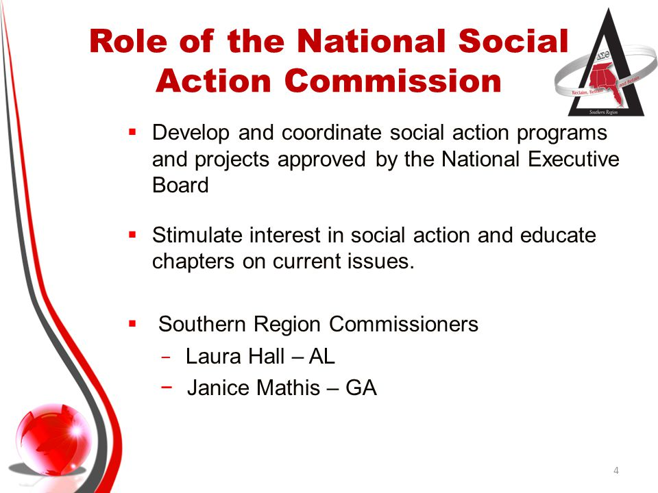 Role of the National Social Action Commission