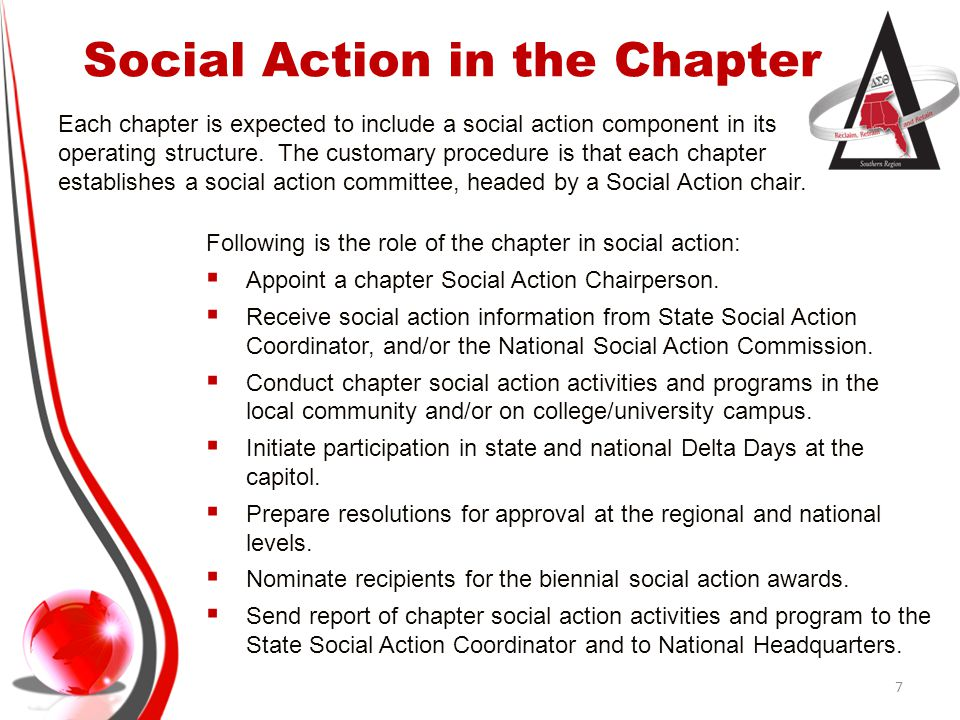 Social Action in the Chapter