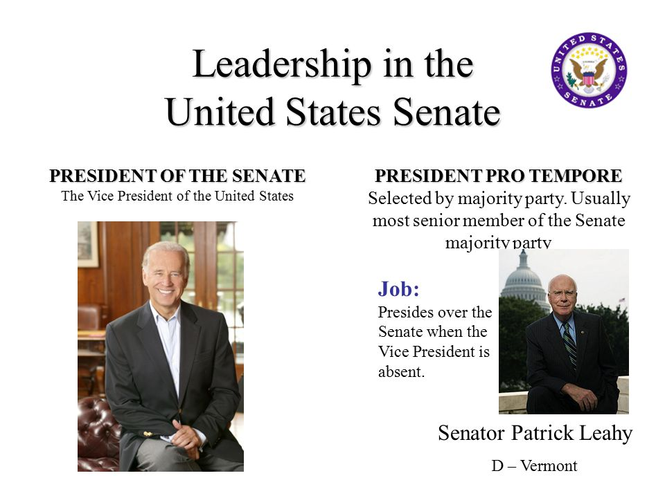 Leadership in the United States Senate
