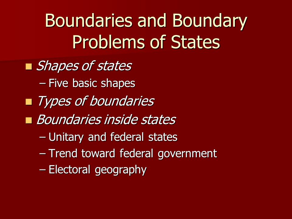 Boundaries and Boundary Problems of States